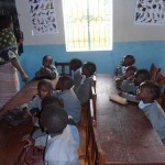 "The children are so happy about their ""new"" nursery school. Learning makes a lot of fun now."
